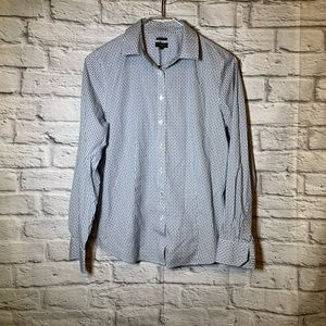 Talbots 6 pattern button front career shirt
